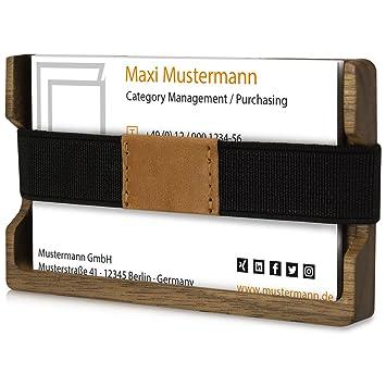 Kwmobile Visitenkartenetui Kartenhalter Für Visitenkarten Etui Aus Holz Für Karten Visitenkartenhalter Kartenetui Echtholz Halter Für