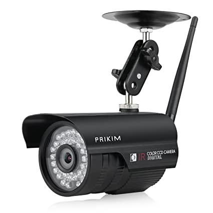 PRIKIM BI4 720P inalámbrica IP WiFi Bullet cámara, visión nocturna IR, impermeable, alarma