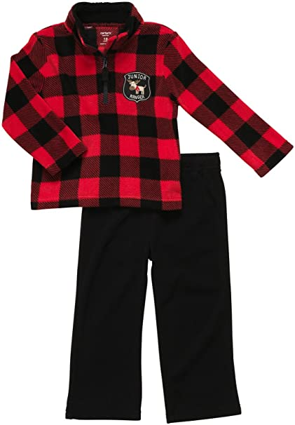 151d7c6f778 Amazon.com  Carter s Baby Boy s Infant Two Piece Fleece Pant Set - Junior  Ranger  Infant And Toddler Pants Clothing Sets  Clothing
