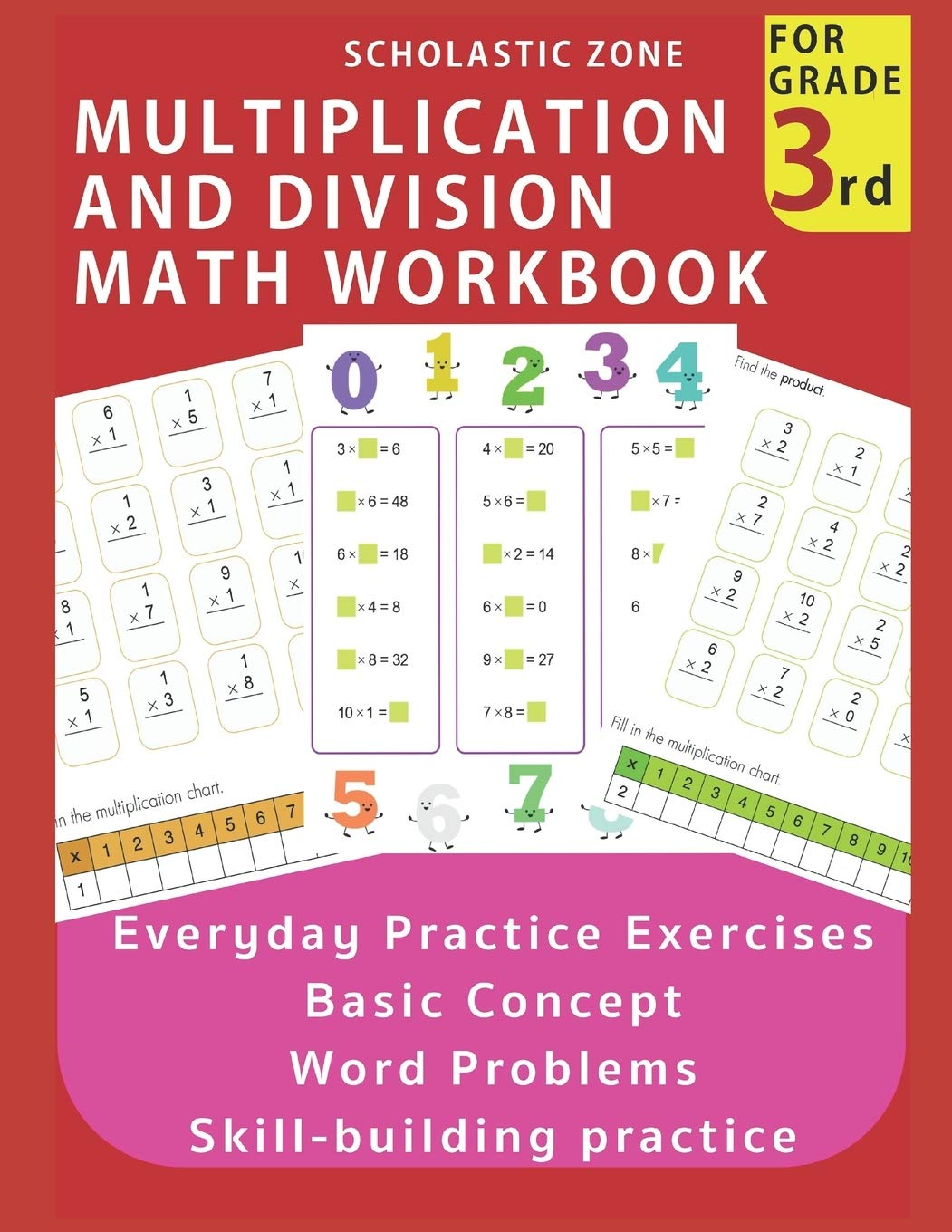 - Multiplication And Division Math Workbook For 3rd Grade: Everyday