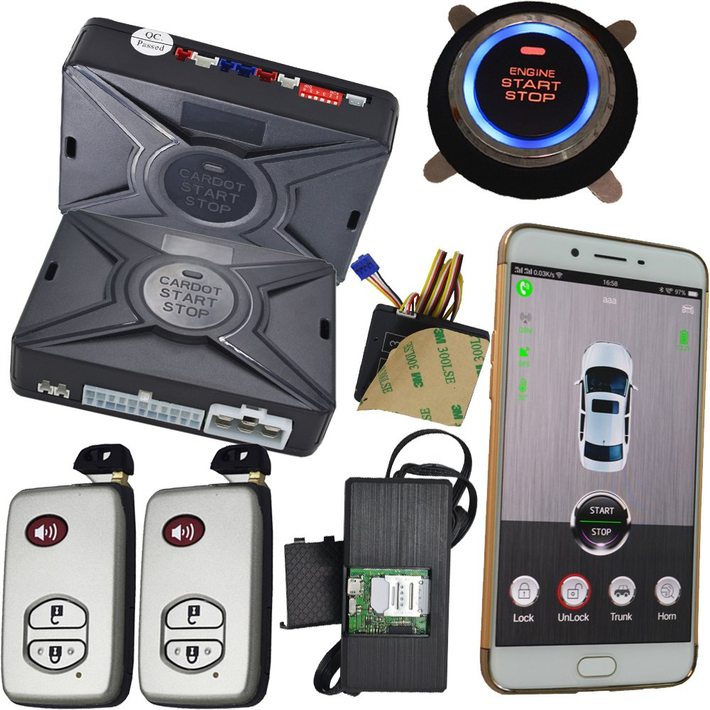 Gps Gprs Tracking System Car Alarm Security Gsm Mobile App Control Keyless Start Stop