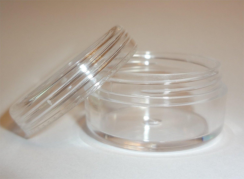 10-gram Clear Round Sample Jars Bag of 50