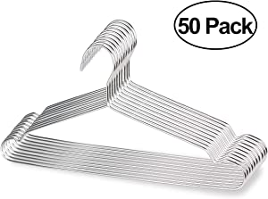 PUERSIT Stainless Steel Mental Hanger, Wire Hangers for Clothes 30 Packs Strong Metal Wire Hangers Coat Hangers Clothes Hangers Standard Hangers for Home and Kitchen,Silver