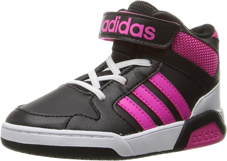 Si imagen vestíbulo  Amazon.com | BB9TIS INF Sneaker, black/Shock Pink/White, 10 M US Infant |  Sneakers