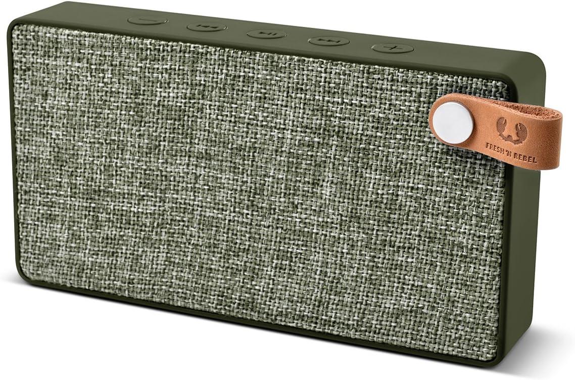Fresh'N Rebel Rockbox Slice - Altavoz portátil con Bluetooth, color verde