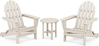 product image for POLYWOOD PWS214-1-PB Classic Adirondack Chair Seating Set in Pacific Blue