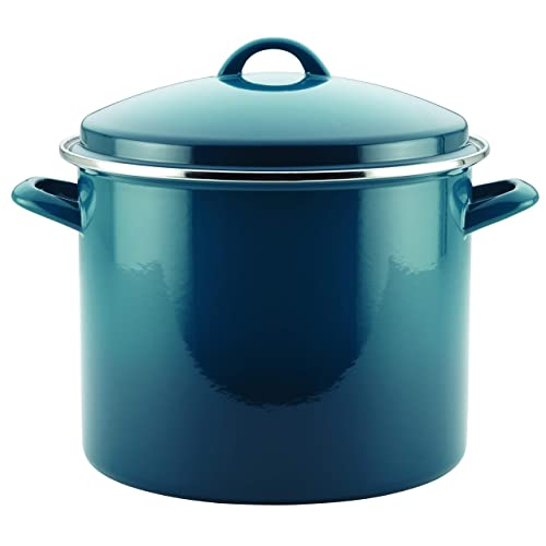Enamel On Steel 12-Quart Stock Pot By Rachael Ray