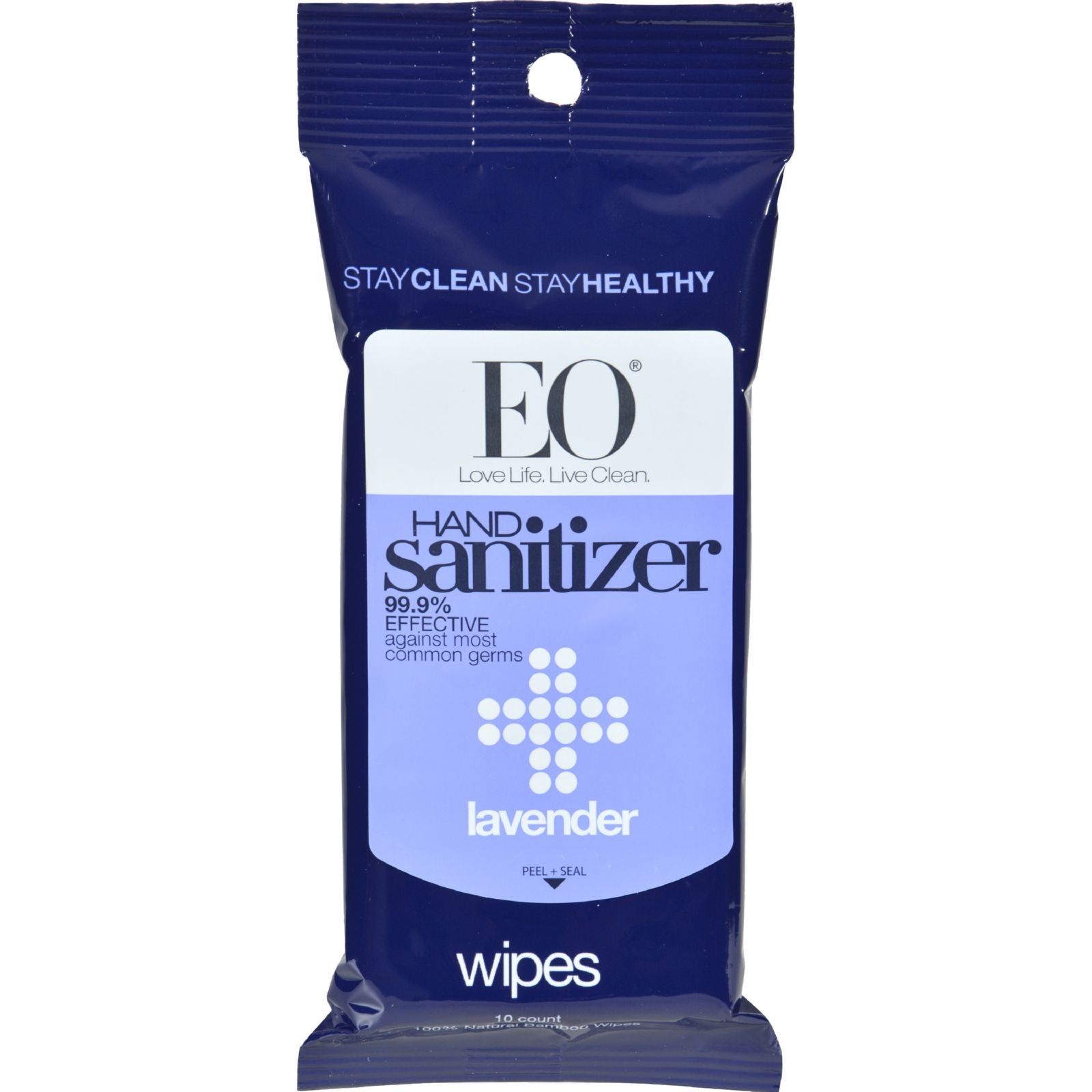 Eo Products Display Hand Santz Wipes Lav -Pack of 6,10 CT
