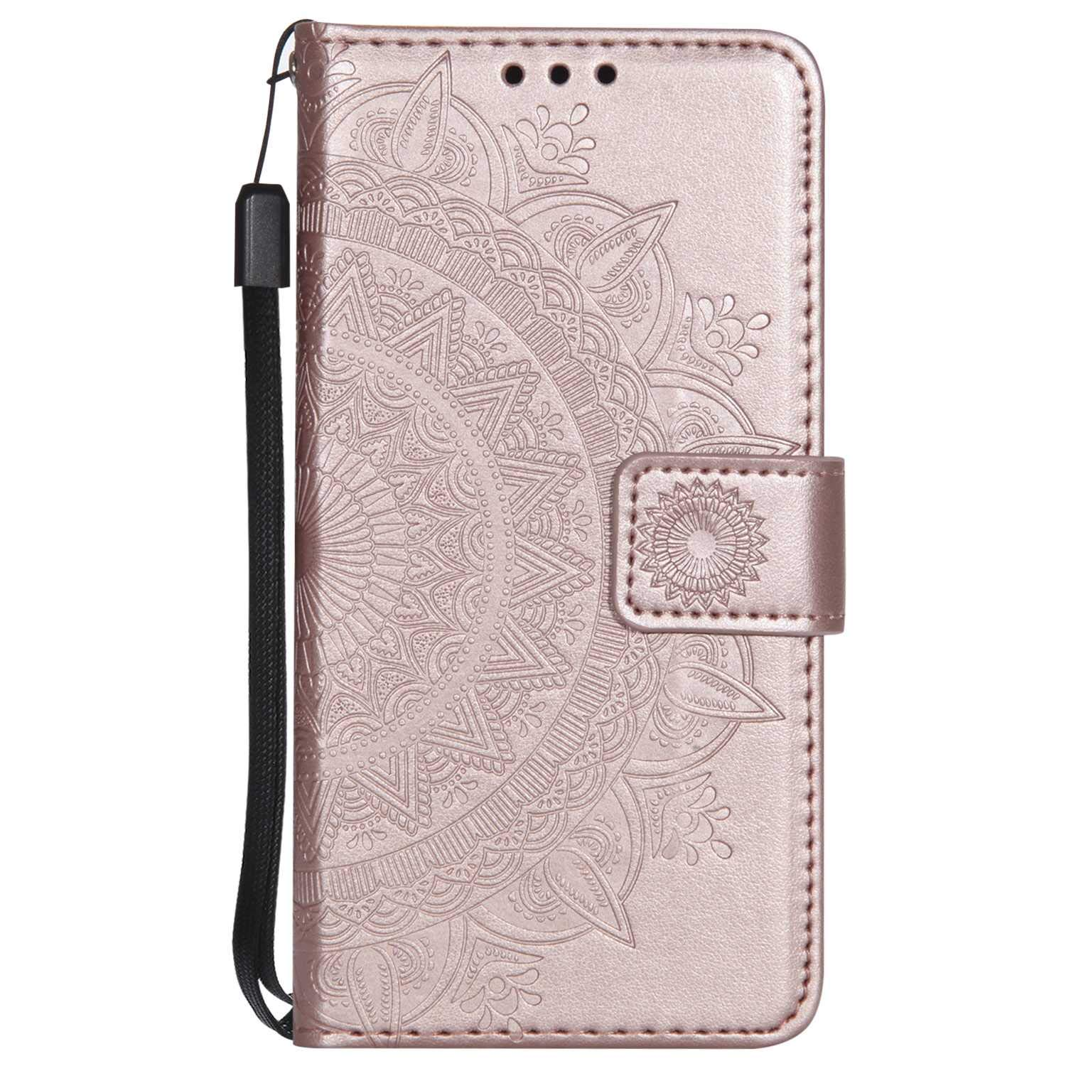 iPhone 7 8 Case, The Grafu Leather Case, Premium Wallet Case with [Card Slots] [Kickstand Function] Flip Notebook Cover for Apple iPhone 7/8, Rose Gold