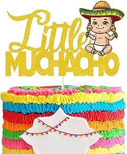 Charrito Cake Topper, Llittle Muchacho Cake Decor , Mexican Fiesta Theme Birthday Party , Baby Shower , Birthday Party Theme Decorations Supplies.
