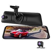 AUTO-VOX V5PRO Anti-Glare Rear View Mirror Dash Cam Front and Rear 1080P Dash Camera...
