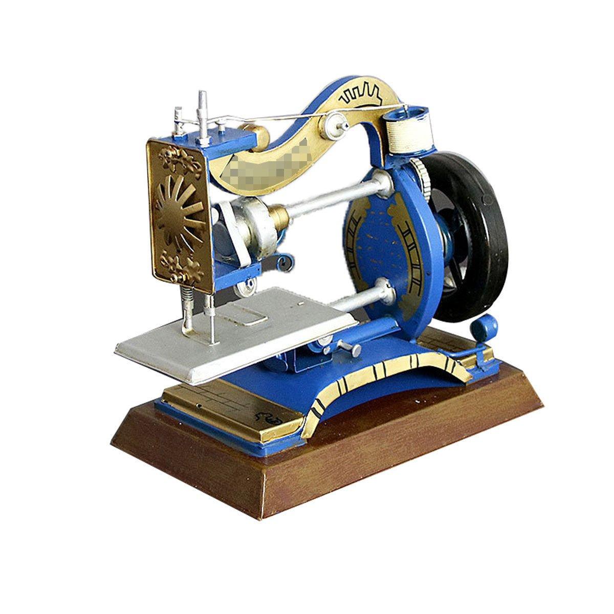 Europeo - Estilo De La Vendimia Metal Clásico Modelo De La Máquina De Coser,Blue