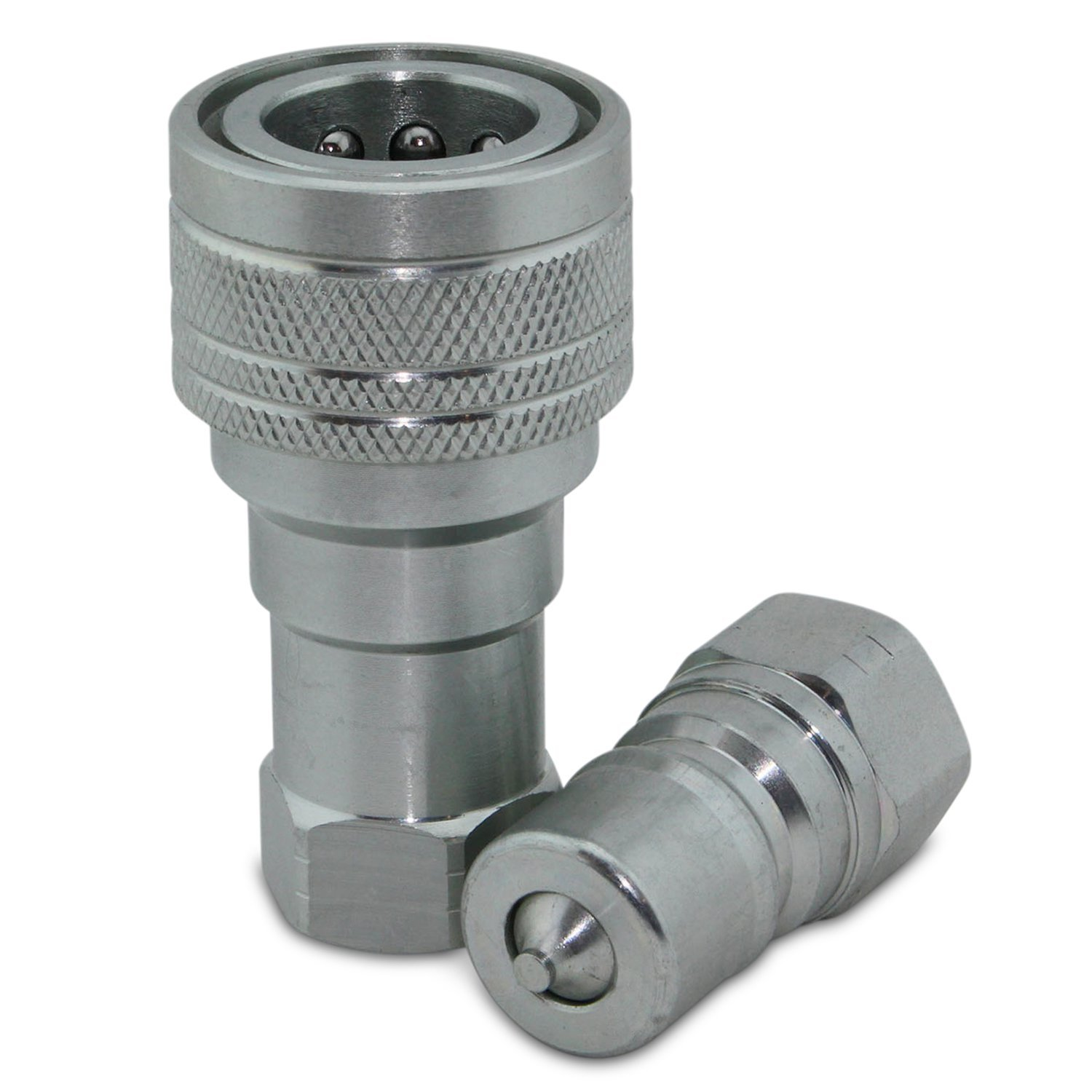3/8'' NPT ISO 7241-B Quick Disconnect Hydraulic Coupling / Coupler Set