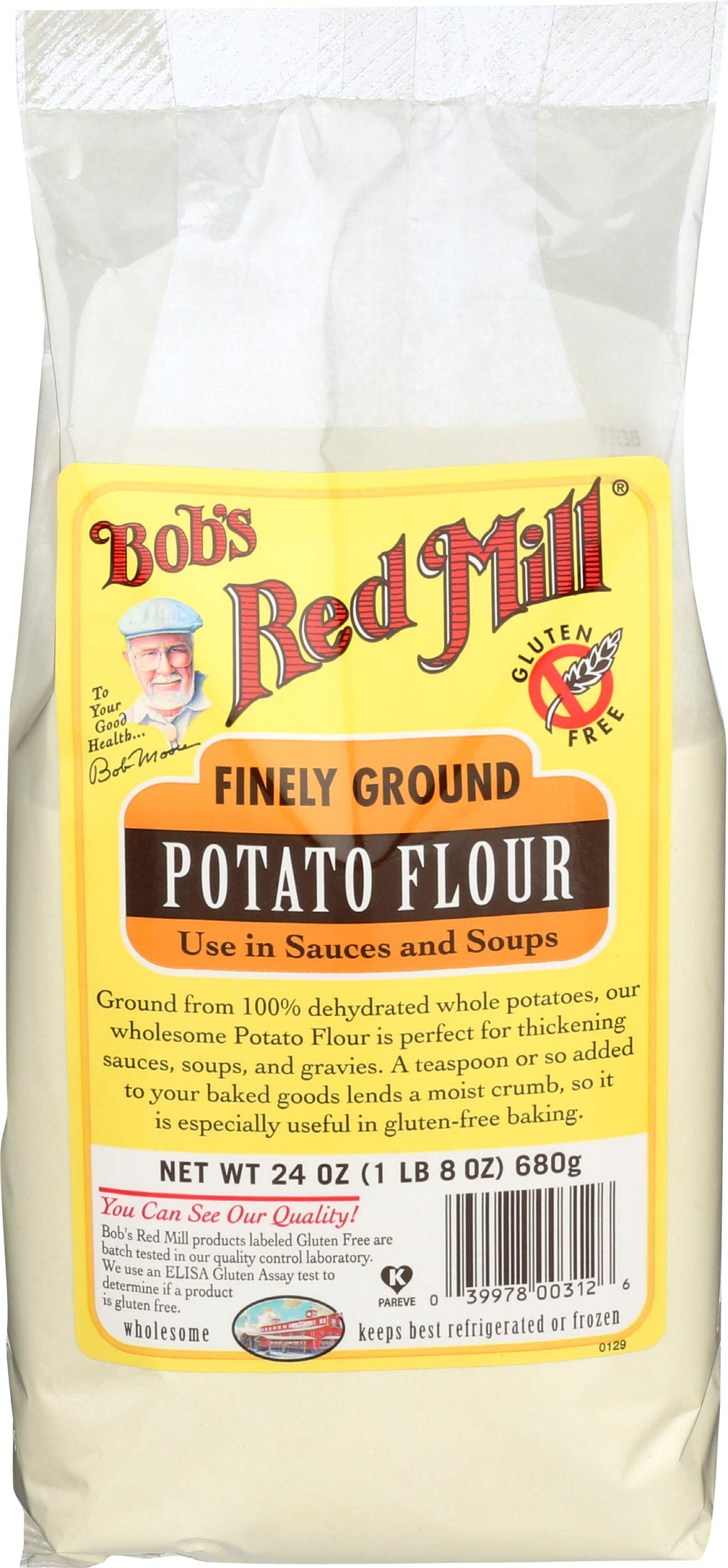 Bobs Red Mill Flour Gluten Free Potato, 24 Oz, Pack of 1