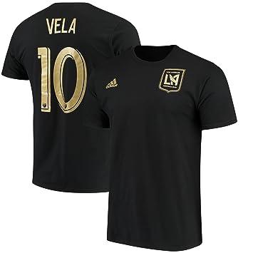 adidas Carlos Vela Los Angeles FC #10 Mens Player Name & Number T-Shirt Black