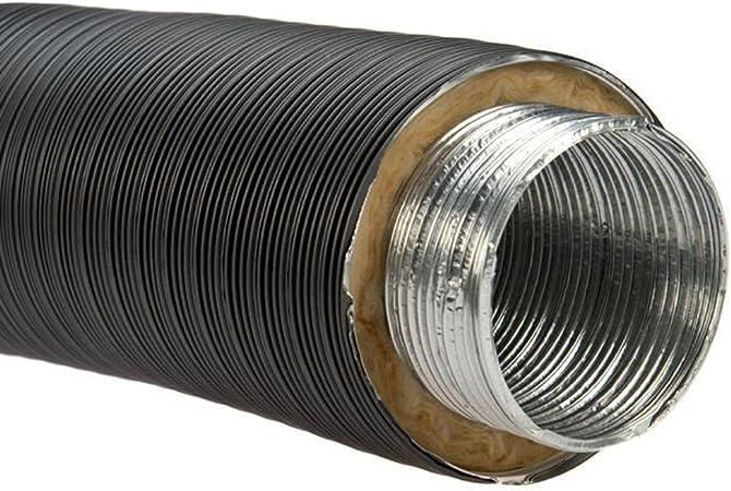 /Ø 125 mm Alu-Flexrohr Schwarz 150 cm