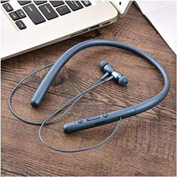Amazon Com Kikblw Sports Bluetooth Headset Power Display Voice Control Support Music Multipoint Connection Neck Mounted Headphones Binaural In Ear Stereophone Blue Electronics