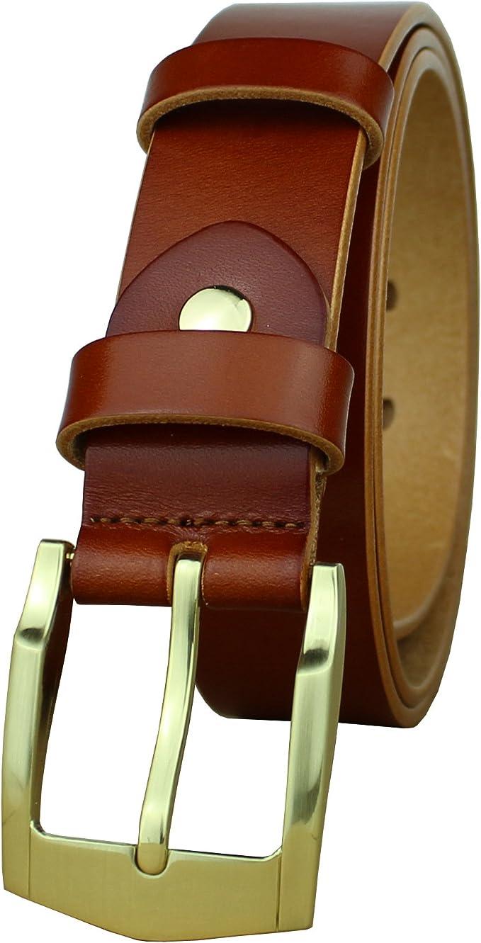 Geremen Nickel Free Stainless Steel Buckle Black Leather Business Belt for Men C04