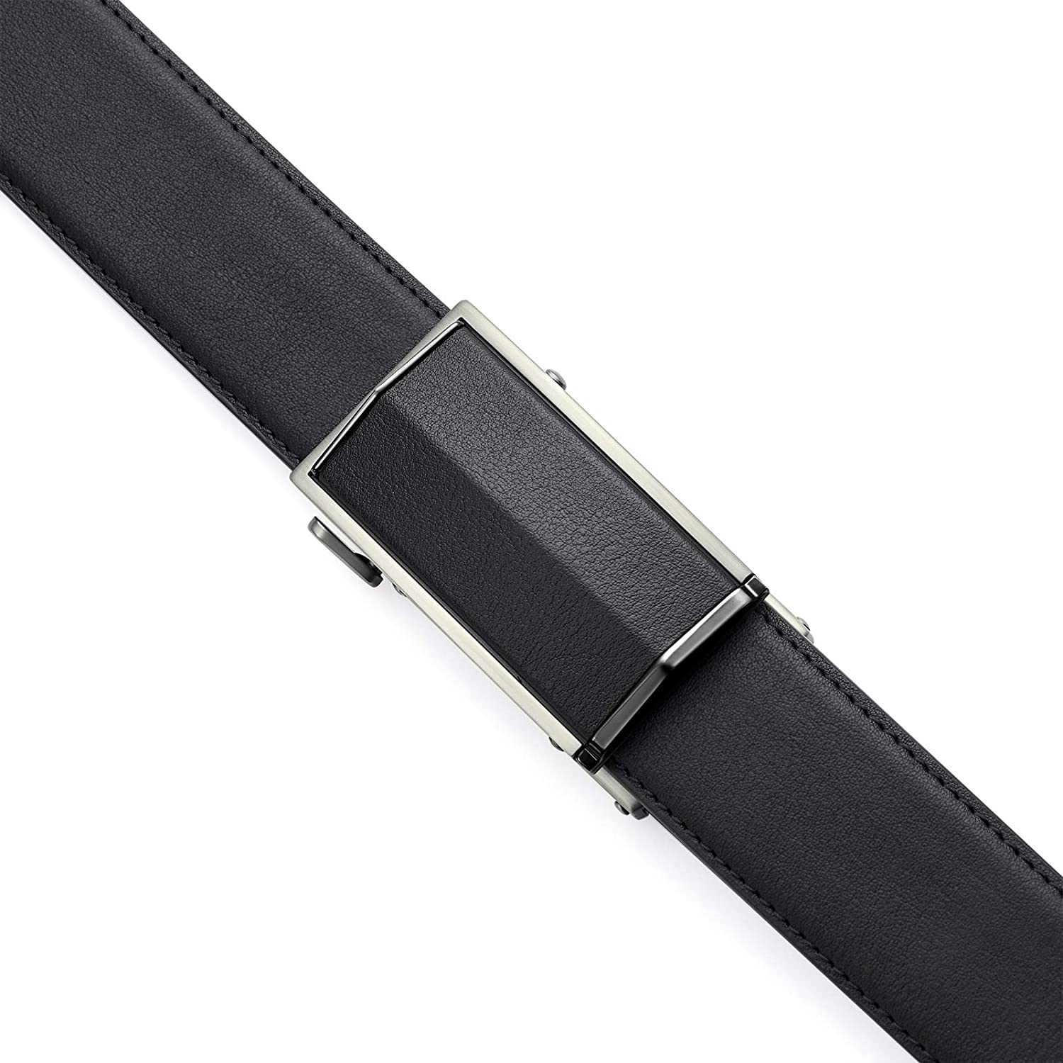 Adjustable Ratchet Dress Belts for Men with Automatic Belt Buckle Mens Leather Belt