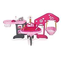 Smoby 220318 - Baby Nurse - Maison des Bébés - Transportable et Pliable - 3 Espaces de Jeu - + 13 Accessoires Inclus