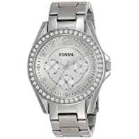 Women's Riley Stainless Steel Crystal-Accented Multifunction Quartz Watch
