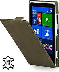 StilGut Ultraslim, housse exclusive de cuir véritable pour le Nokia Lumia 920, old style vert herbe