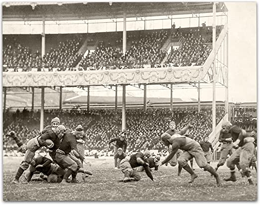 1916 Army-Navy game at the Polo Grounds Vintage Football Print 11x14 Unframed