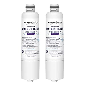 AmazonBasics Replacement Samsung DA29-00020B Refrigerator Water Filter - Premium Filtration - 2-Pack