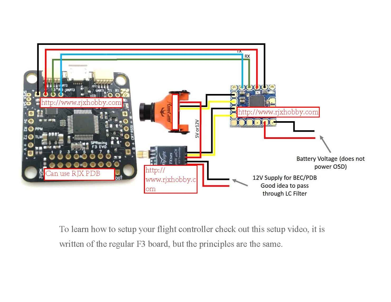 71ocOTS7SzL._SL1481_ rjxhobby sp racing f3 evo betaflight flight controller for 180 184 sp racing f3 wiring diagram 6ch receiver at gsmx.co