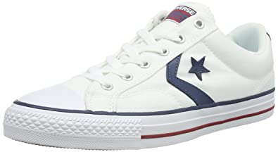 350694d8de02 Converse Star Player Ox Unisex Trainers White Navy - 7.5 UK