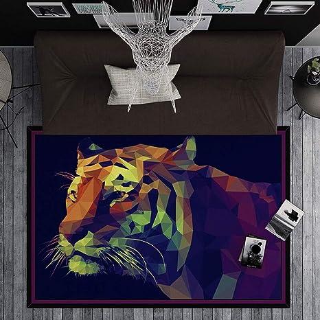LOUUG Patrón de noche Alfombra Soft 3D Tiger Impreso Coral ...