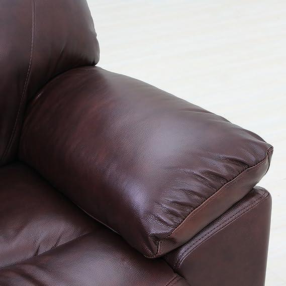 Amazon.com: Viva Home clásico y tradicional Sofá de piel ...