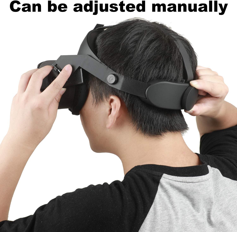c/ómodo cuero de PU y reducir la presi/ón de la cabeza Nicecool Upgrade Head Strap Pad para Oculus Quest Realidad virtual VR Headset Cushion Headband Accesorios de fijaci/ón rojo