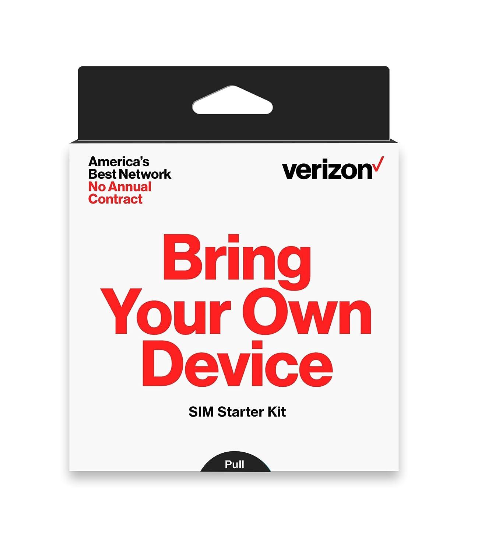 Verizon Prepaid SIM Card Kit - No Contract Service - (3-in-1 Sim: Standard, Micro, Nano)