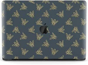 Mertak Hard Case for Apple MacBook Pro 16 Air 13 inch Mac 15 Retina 12 11 2020 2019 2018 2017 Pattern Touch Bar Cover Minimal Laptop Clear Cute Protective Insects Gray Wasp Plastic Bee Design Print