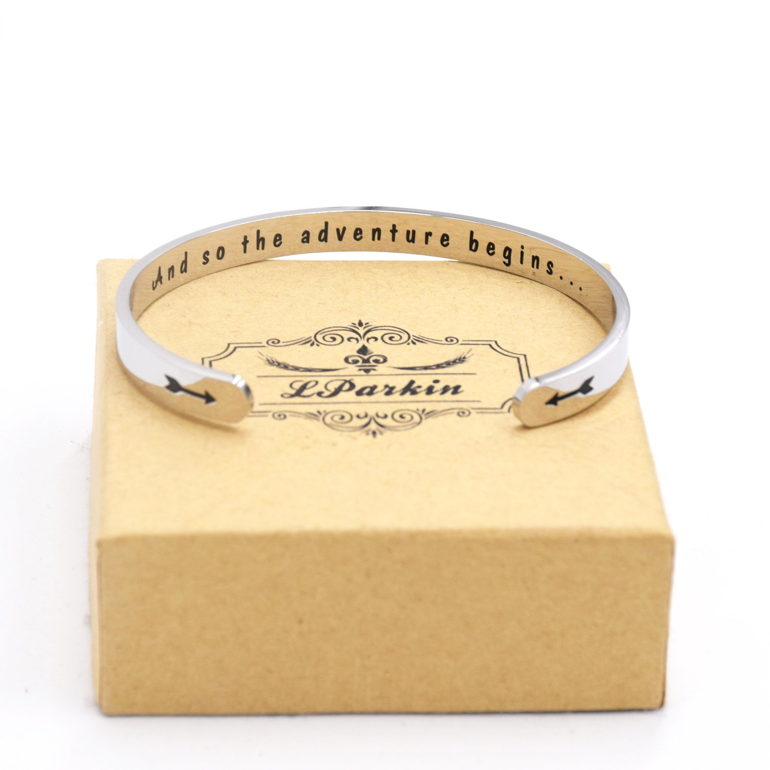 LParkin Class of 2018 2019 Gift And So the Adventure Begins Cuff Bracelet Graduation Gift (Cuff) by LParkin (Image #4)