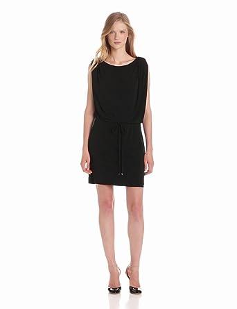 Jessica Simpson Women's Button Shoulder Blouson Dress, Black, X-Small