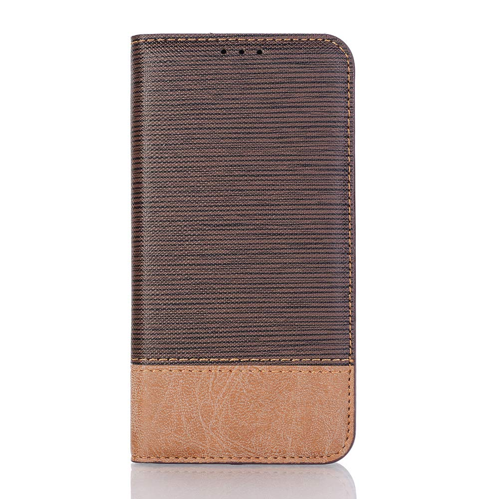 TechCode S10e Samsung Phone Case, Bookstyle PU Leather Folio Stand Case with Card Slot Design & Hard Back Shell Wallet Flip Stand Protective Cover for Samsung Galaxy S10e 5.9 inch 2019(Dark Brown)