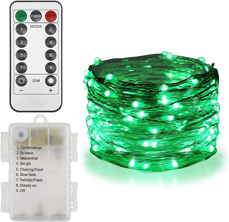 Blue LED Fairy Lights Battery Copper String light Waterproof for St Patricks Day