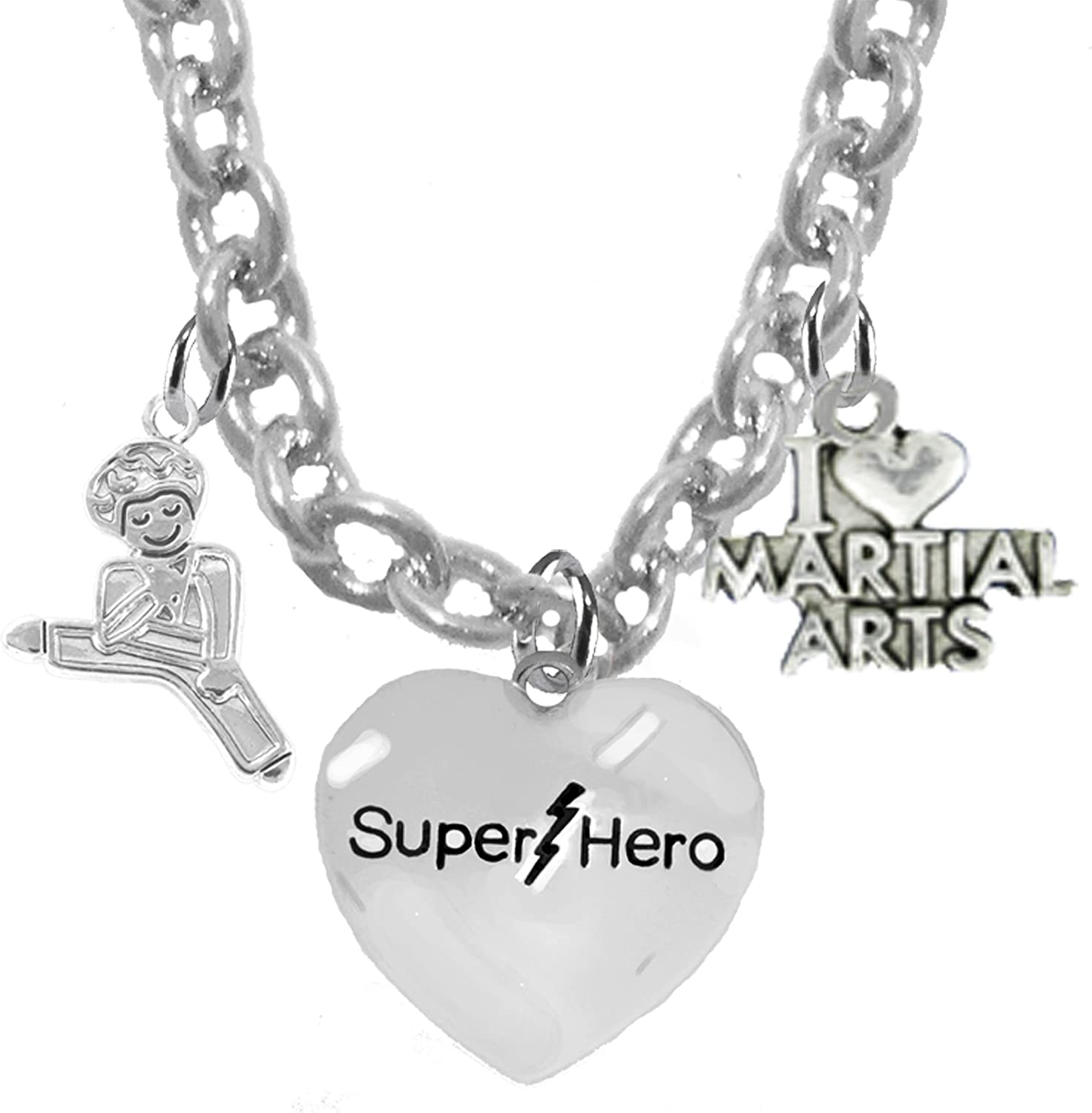 Cardinali/® Jewelry Childrens Martial Arts Lead And Cadmium Free Karate Jewelry Super Hero Kickboxing Childrens Safe-Nickel Adjustable Necklace Hypoallergenic