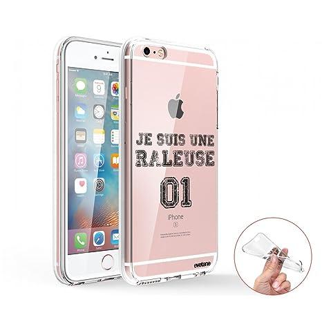 Evetane - Carcasa rígida Transparente para iPhone 6 Plus y ...