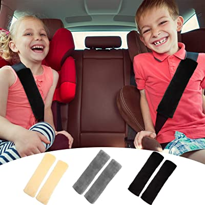 6 Pieces Seat Belt Shoulder Pad Car Strap Covers Faux Sheepskin Seatbelt Pad Soft Seat Belt Cushion for Car Airplane Backpack Supplies, 3 Colors: Automotive