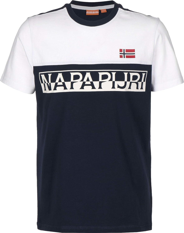 Napapijri Saras NA4E5P-BB6 - Camiseta para hombre, color azul: Amazon.es: Ropa y accesorios