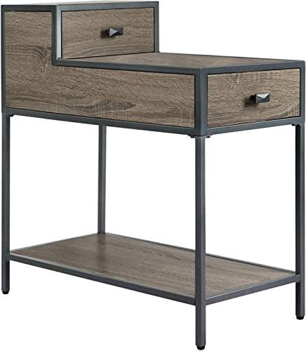 Editors' Choice: FINECASA Metal Frame End Table,Ladder-Shaped Chair Side Table