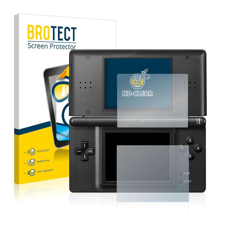 BROTECT Protector de Pantalla para Nintendo DS Lite [2 Unidades] - HD-Transparente, Anti-Huellas, Anti-Burbujas