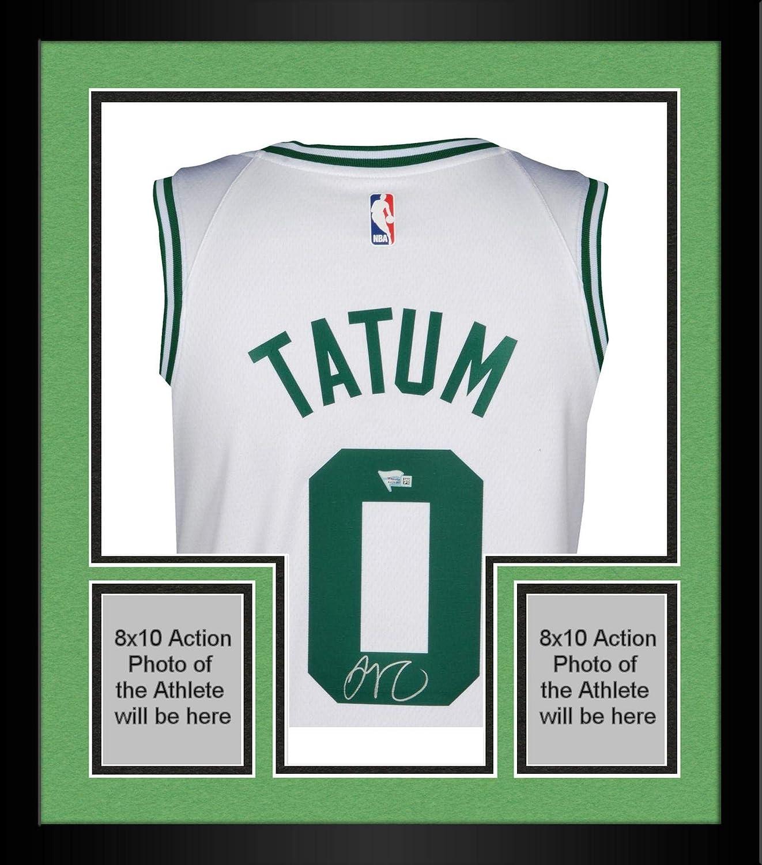 info for d8bc8 b1b7a Framed Jayson Tatum Boston Celtics Autographed Nike White ...