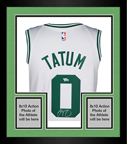 info for 8f2b1 9805b Framed Jayson Tatum Boston Celtics Autographed Nike White ...