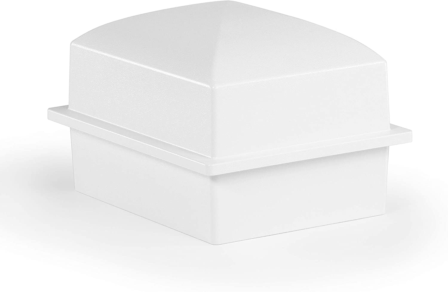 Crowne Vault Compact Urn Vault for Ground Burial | Holds Cremation Ashes for One Adult | Coronet (White)