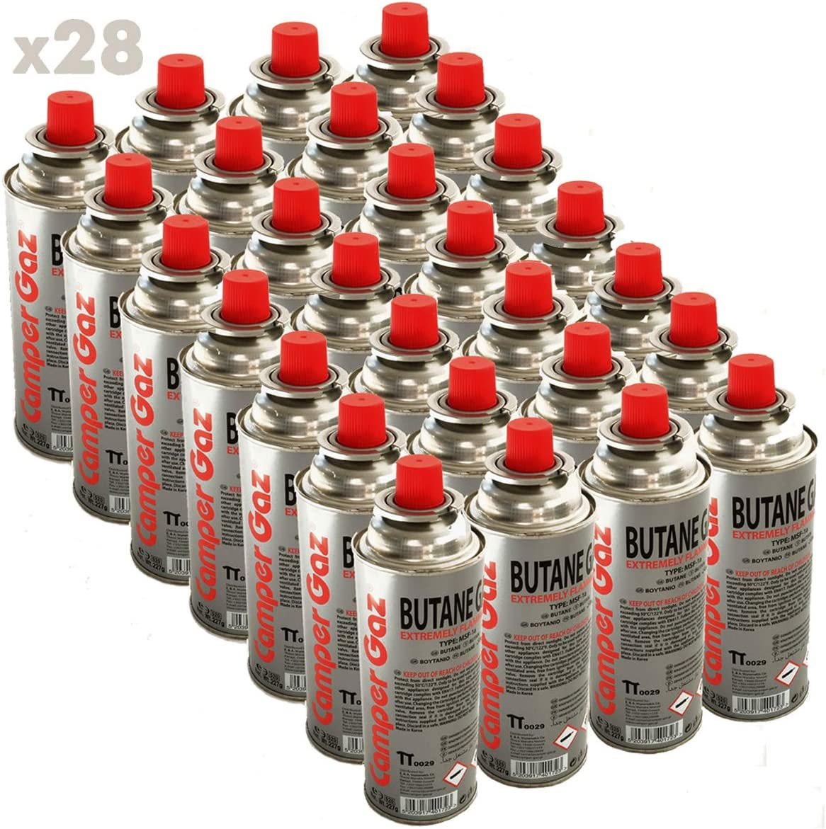 Pack de 28 cartucho gas Camper Gas 227 gr butano – Botella ...