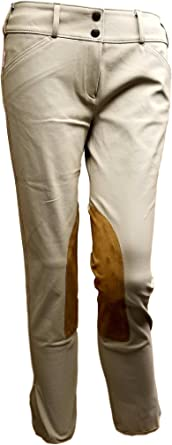 Porcini//Black Patch, 30R Tailored Sportsman Ladies Trophy Hunter Low Rise Front Zip Breech The Tailored Sportsman